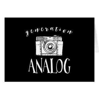 Fotógrafo análogo de la cámara del vintage de la tarjeta de felicitación