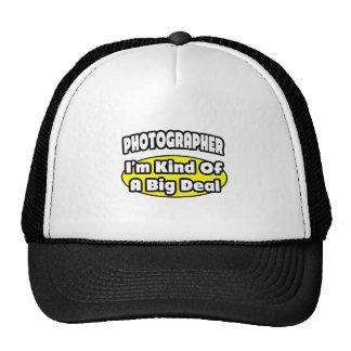 Fotógrafo = clase de una gran cosa gorras