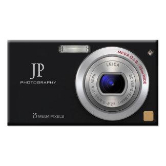 Fotógrafo compacto del profesional de la cámara tarjetas de visita