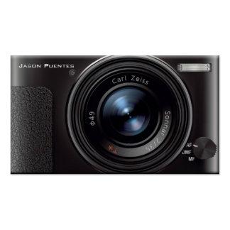 Fotógrafo de la cámara digital de la lente de HD Plantillas De Tarjetas De Visita