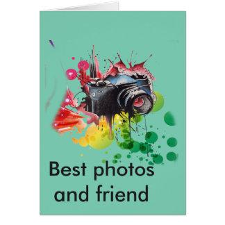 Fotógrafo de la enhorabuena tarjeta de felicitación