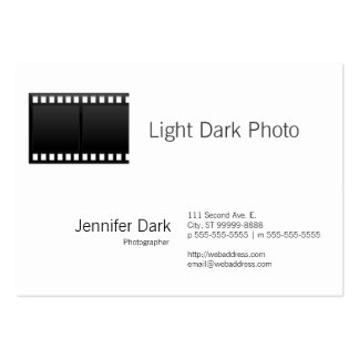 Fotógrafo de la foto de la película tarjetas de visita grandes