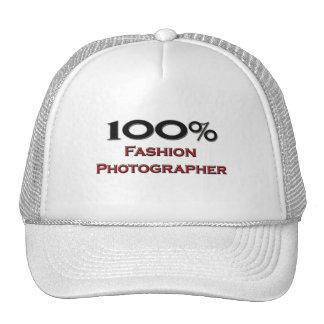 Fotógrafo de la moda del 100 por ciento gorras