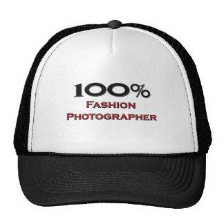 Fotógrafo de la moda del 100 por ciento gorro