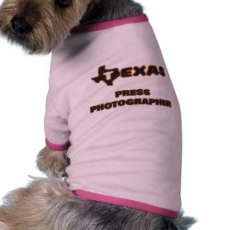 Fotógrafo de prensa de Tejas Camiseta Con Mangas Para Perro