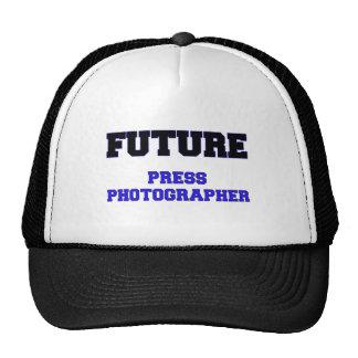 Fotógrafo de prensa futuro gorros bordados