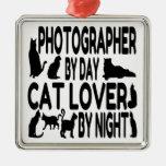 Fotógrafo del amante del gato ornamente de reyes