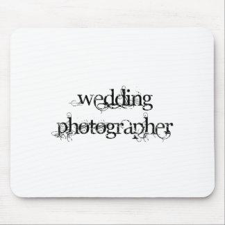 Fotógrafo del boda tapetes de raton