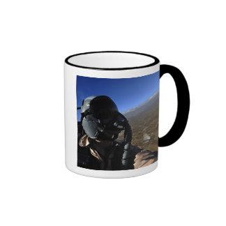 Fotógrafo del combate aéreo de la fuerza aérea de taza de dos colores