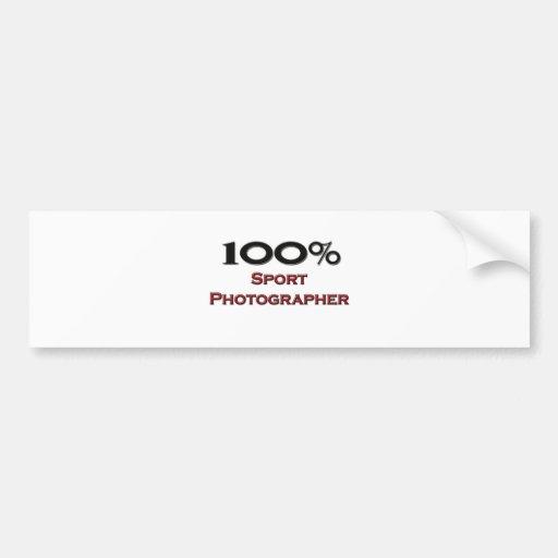 Fotógrafo del deporte del 100 por ciento etiqueta de parachoque