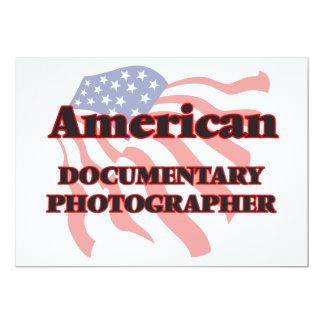 """Fotógrafo documental americano invitación 5"""" x 7"""""""