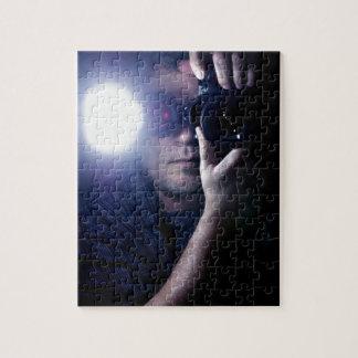 Fotógrafo en Dark jpg Rompecabezas Con Fotos