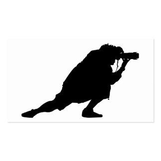 Fotógrafo en la acción tarjeta de visita