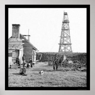 Fotógrafo en la torre 1864 de la señal del mayordo impresiones