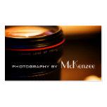 Fotógrafo, fotografía, tarjeta de visita de la
