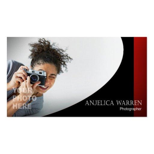 Fotógrafo, fotografía, Videographer, cámara Tarjetas De Visita