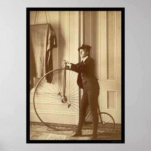 Fotógrafo Frances Johnston vestido como hombre 189 Póster