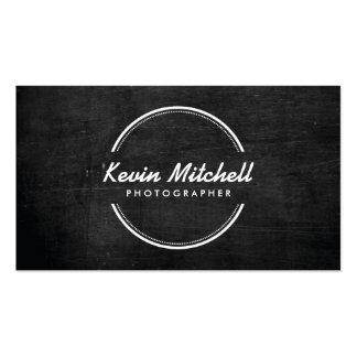 Fotógrafo, logotipo de la fotografía en la madera  plantilla de tarjeta de visita