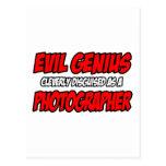 Fotógrafo malvado del genio… postal