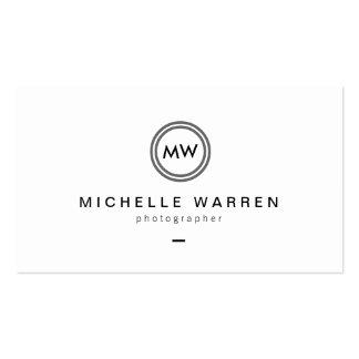 Fotógrafo moderno del logotipo B/W de las Tarjetas De Visita