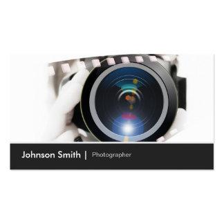 Fotógrafo - muestre sus mejores trabajos a los cli plantilla de tarjeta de negocio