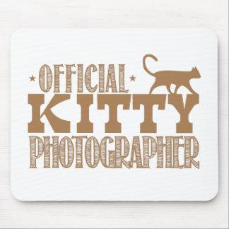 fotógrafo oficial del gatito tapetes de raton