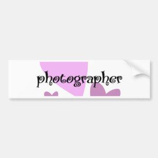 Fotógrafo Pegatina Para Auto
