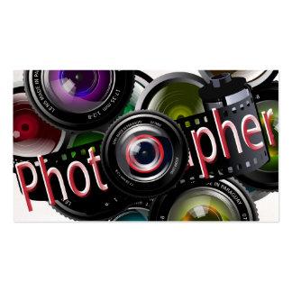 Fotógrafo profesional de la foto tarjetas de visita