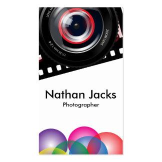 Fotógrafo profesional tarjetas de visita