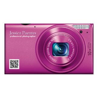 Fotógrafo rosado del profesional de la cámara tarjetas de visita
