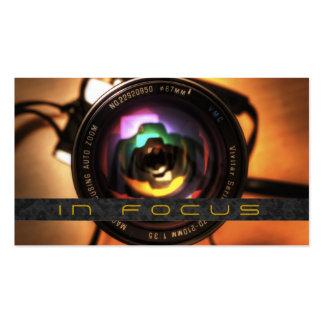 Fotógrafo, tarjeta de visita de la fotografía