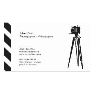 Fotógrafo - tarjeta de visita del ı de