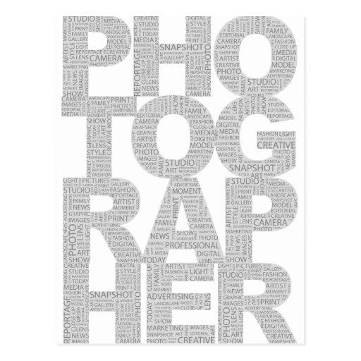 Fotógrafo Tarjeta Postal