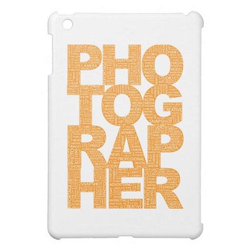 Fotógrafo - texto anaranjado