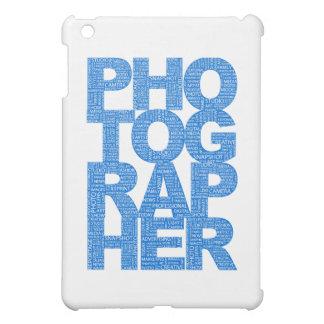 Fotógrafo - texto azul
