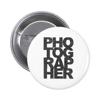 Fotógrafo - texto negro pins