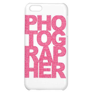 Fotógrafo - texto rosado