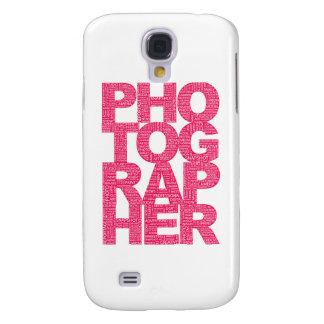 Fotógrafo - texto rosado funda samsung s4