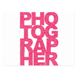 Fotógrafo - texto rosado postales