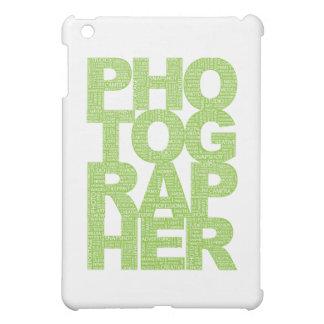 Fotógrafo - texto verde