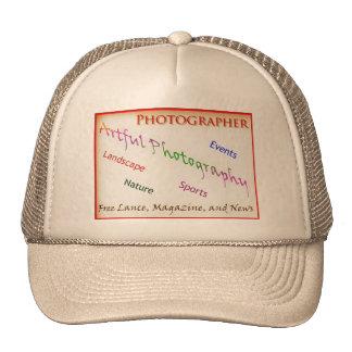 Fotógrafos con el fondo transparente gorro