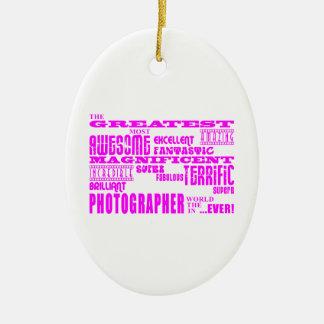Fotógrafos de los chicas: Fotógrafo más grande Adorno Ovalado De Cerámica