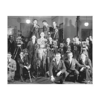 Fotógrafos de prensa, 1929 impresiones en lienzo estiradas