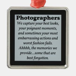 Fotógrafos, las mejores miradas adorno cuadrado plateado
