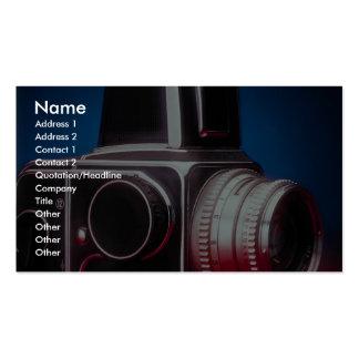 Fotógrafos medios del profesional de la cámara del tarjetas de visita