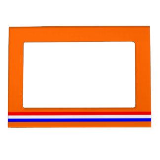 Fotolijst oranje met rood~wit~blauw magnetic photo frame