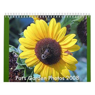 Fotos 2008 del jardín calendarios