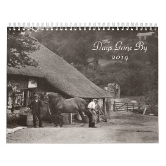 Fotos a partir de los días idos en 2014 calendarios