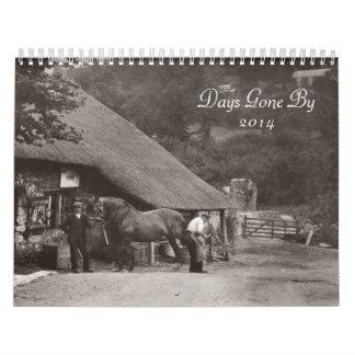 Fotos a partir de los días idos en 2014 calendario