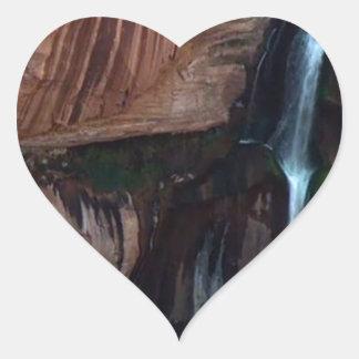 Fotos americanas del Gran Cañón de las caídas del Pegatina En Forma De Corazón